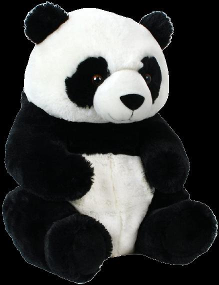 Grotte du SEO : peluche noire et blanche panda