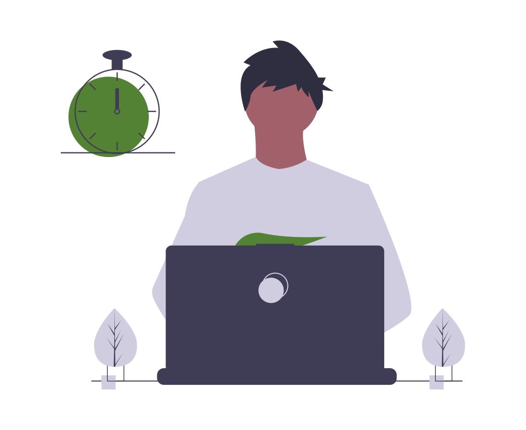 Création de site web : Un homme qui travaille sur l'ordinateur